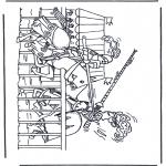 Disegni da colorare Vari temi - Cavalieri in combattimento
