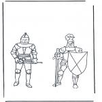 Disegni da colorare Vari temi - Cavalieri