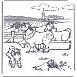 Disegni da colorare Animali - Cavalli