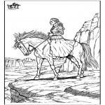 Disegni da colorare Animali - Cavallo 10