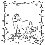 Disegni da colorare Animali - cavallo 2