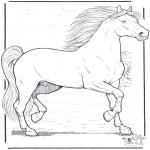 Disegni da colorare Animali - Cavallo 3