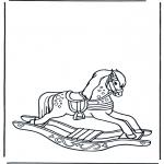 Disegni per i piccini - Cavallo a dondolo