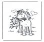 Cavallo con fiori