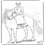 Disegni da colorare Animali - Cavallo con signora