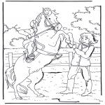 Disegni da colorare Animali - Cavallo impennato