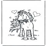 Disegni da colorare Animali - Cavallo innamorato