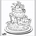 Disegni da colorare Temi - Celebrazione torta