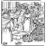 Disegni biblici da colorare - Cerca 15 portamonete ' Zaccheo