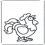 Disegni da colorare Animali - Chicchirichì