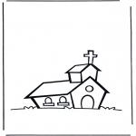 Disegni da colorare Vari temi - Chiesa