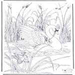Disegni da colorare Animali - Cigno