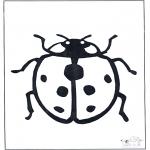 Disegni da colorare Animali - Coccinella 1