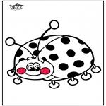 Disegni da colorare Animali - Coccinella 3
