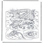 Disegni da colorare Animali - Coccodrillo 1