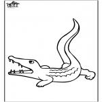 Disegni da colorare Animali - Coccodrillo 3