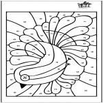 Lavori manuali -  Colora con i numeri 4