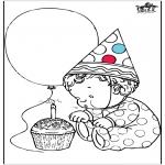 Disegni da colorare Temi - Compleanno 1 anno