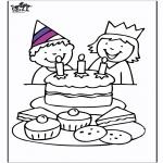 Disegni da colorare Temi - Compleanno 3
