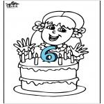 Disegni da colorare Temi - Compleanno 4