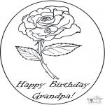 Disegni da colorare Temi - Compleanno del nonno