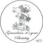 Disegni da colorare Temi - Compleanno della nonna