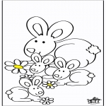 Disegni da colorare Animali - Conigli 2