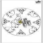 Disegni da colorare Temi - Coniglietti di Pasqua