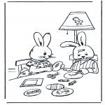 Disegni da colorare Temi - Coniglietto pasquale 11