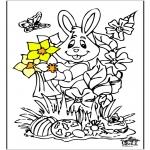 Disegni da colorare Temi - Coniglietto pasquale 12