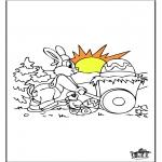 Disegni da colorare Temi - Coniglietto pasquale 13