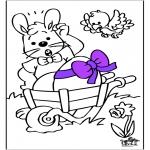 Disegni da colorare Temi - Coniglietto pasquale 14