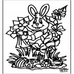 Disegni da colorare Temi - Coniglietto pasquale 16