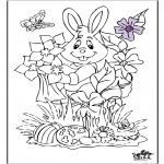 Disegni da colorare Temi - Coniglietto pasquale 17