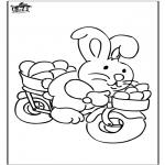 Disegni da colorare Temi - Coniglietto pasquale 19