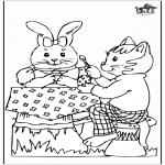 Disegni da colorare Temi - Coniglietto pasquale 20