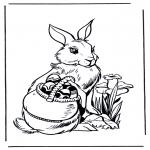 Disegni da colorare Temi - Coniglietto pasquale 3