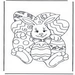 Disegni da colorare Temi - Coniglietto pasquale 4