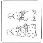 Disegni da colorare Temi - Coniglietto pasquale 7