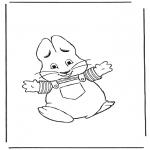 Disegni da colorare Temi - Coniglietto pasquale 8