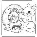 Disegni da colorare Temi - Coniglietto pasquale 9