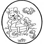 Disegni da colorare Temi - Coniglietto pasquale - Disegno da bucherellare 1