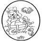 Coniglietto pasquale - Disegno da bucherellare 1