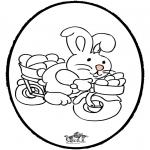 Disegni da colorare Temi - Coniglietto pasquale - Disegno da bucherellare 2