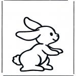 Disegni da colorare Animali - Coniglio 1