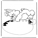 Disegni da colorare Temi - Coniglio con uovo pasquale