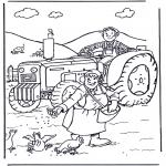 Disegni da colorare Vari temi - Contadino e contadina