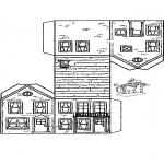 Disegni da colorare Vari temi - Costruisci la tua casetta 2