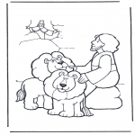 Disegni biblici da colorare - Daniele nalla fossa dei leoni 2
