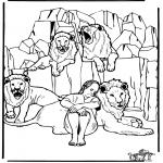 Disegni biblici da colorare - Daniele nalla fossa dei leoni 3